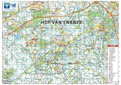 Nieuw bij de VVV: centrumplattegronden Hof van Twente