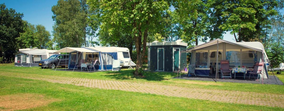 Camping met prive sanitair