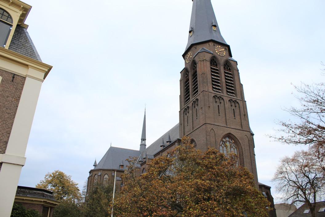 Zicht op kerk