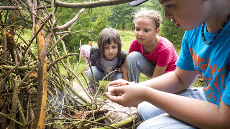 Bushcraft voor kinderen 7-14 jaar