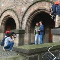 Laurens en Erik bij de Jacobuskerk