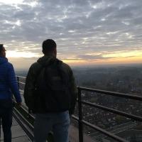 Enschede bij zonsopgang