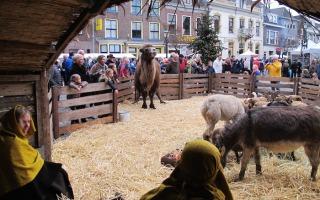 Der großen Weihnachtsmarkt in Doesburg